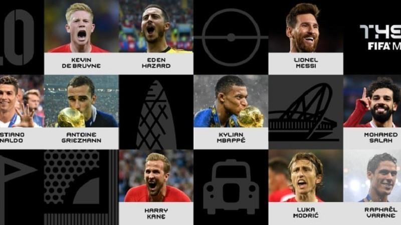 La FIFA anuncia los 10 nominados al premio The Best