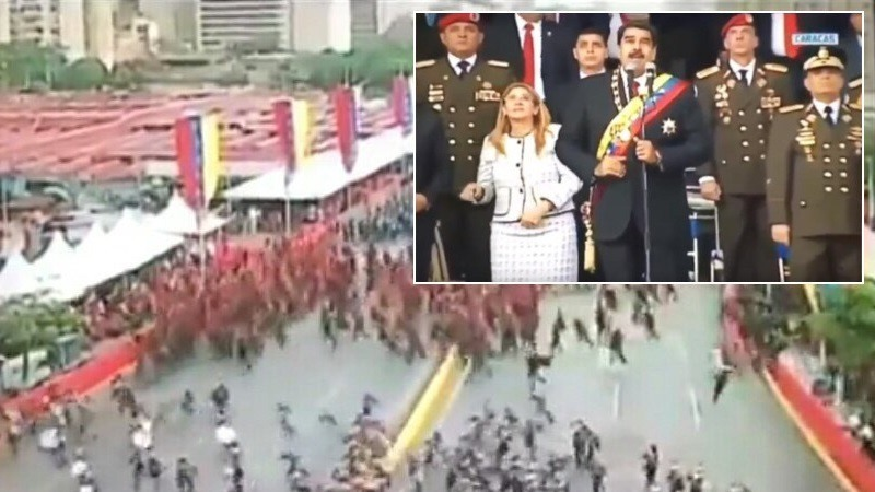 Nicolás Maduro sufre «un intento de asesinato» con drones explosivos y culpa al presidente Santos