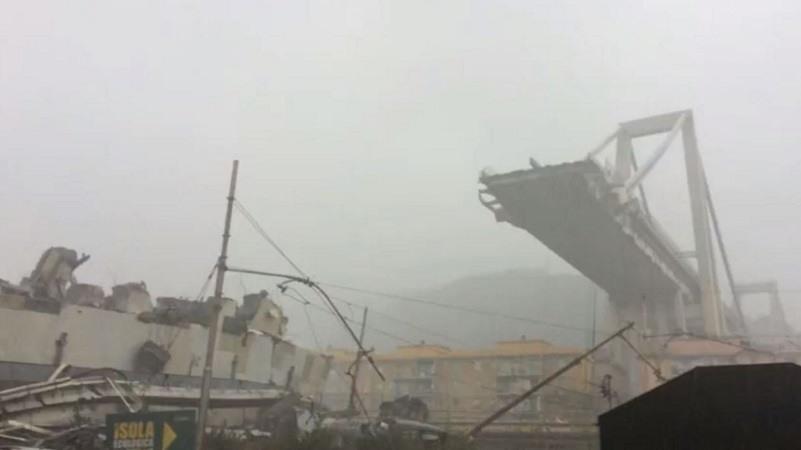 Tragedia en Génova: Decenas de muertos y coches atrapados tras el derrumbe de un puente