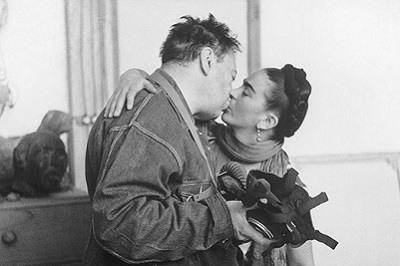 Frida Kahlo y Diego Rivera. Foto de Nickolas Muray de 1939